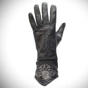 DL Woman's Motorcycle Gloves with Stitched Eagle